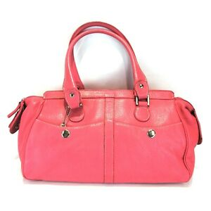 TIGNANELLO  Shoulder Bag  Large Pink Leather Satchel 15W x 8.5H (B5)