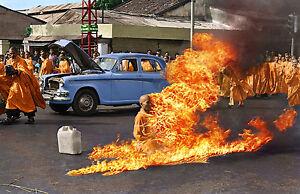 The Burning Monk 16x24 large photo 1963 Saigon Buddhist monk Thích Quang Duc