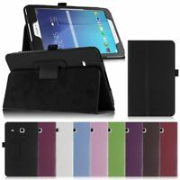 PU Leather Folio Stand Case Cover For Samsung Galaxy Tab E 8.0 inch SM-T378/T377