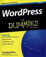 Wordpress for Dummies, 7th Edition  Paperback Book - Free Shipping