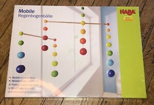 HABA Nursery Room Or Decoration Wooden Mobile Rainbow Balls Made in Germany New