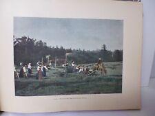 SUEDE/Gravure 19°in folio couleur/ LA COUPE DES FOINS EN DALECARLIE