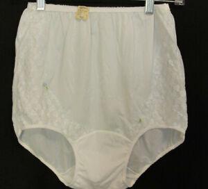 NWT Vtg Kel Ray All Nylon Panty White Nylon Gusset Pillow Tab USA Made Sz 7