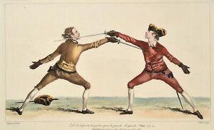 Angelo 1763 L'Ecole des Armes Fechten Fencing Escrime Plate 23 Antique print