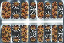 New Nail Polish Strips Halloween Jack O Lantern Spiderweb, 16 Ct Free Shipping