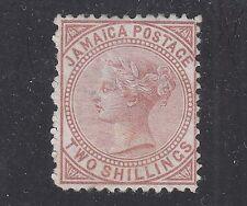 JAMAICA #14 Unused No Gum 2sh Red Brown 1875 Perf 12 1/2 SCV $45.00