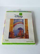 "Disney Home Winnie the Pooh & Friends Rainbow Vinyl Shower Curtain 72"" by 72"""