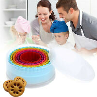 6Pcs Plastic Double Sided Cookie Cutters Biscuit Fondant Cake Mould Mold Baking