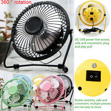 "USB Portable Tripod Cooling Little Mini Fan Office Home 4"" Small Desk Table Fan"