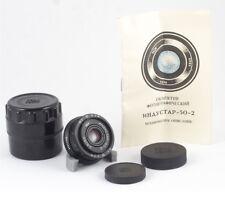 INDUSTAR 50-2 F/3.5 50mm CANON SONY MTF 4/3 SAMSUNG NX FUJIFILM FX MINT PASSPORT