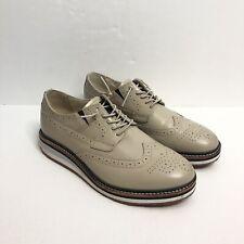 Royal Elastics Gray Slip On Oxford Wingtip Casual Dress Shoes Men's Size 8.5 M