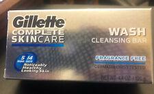 1 Gillette Complete Skincare Cleansing Wash  Bar 4.4 oz. Fragrance Free NEW