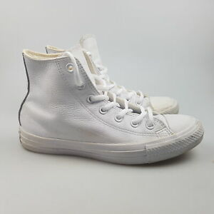 Women's CONVERSE 'CT Mid Leather' Sz 8 US Shoes White GCon   3+ Extra 10% Off