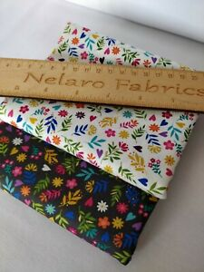 Ditzy flower cream grey tiny floral fabrics by Makower