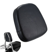 Universal Black Motorcycle Bar Back Seat Backrest Cushion Pad For Harley Chopper