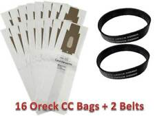 16 Allergen Bags for Oreck XL XL2 Upright Vacuum Type CC + 2 Belts