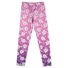 Disney Frozen Girls Size Large 10 - 12  Elsa Pink Purple Print Legging Pants NEW