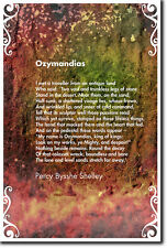 Ozymandias POESIA-Percy Bysshe Shelley-BELLA FOTO POSTER STAMPA