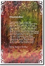 Ozymandias POESIA-Percy Bysshe Shelley-BELLA FOTO POSTER STAMPA