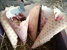 50 confetti cones wedding shabby chic
