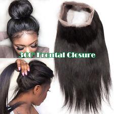 360 Full Frontal Closure 8A Virgin Human Hair Weave Brazilian 100% Unprocessed U