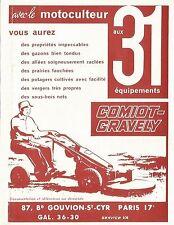 W5007 Motocoltivatore Comiot-Gravely - Pubblicità 1961 - Advertising
