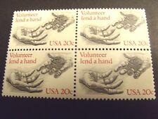 US Postage Stamp 1983 VOLUNTEER LEND A HAND Scott 2039 4-20c