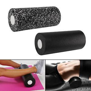 Roll Medium Faszienrolle Massagerolle Fitness Sport Yoga Pilates Black DE