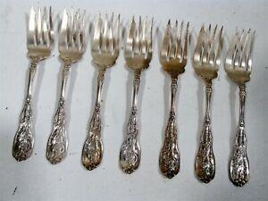 """Antique Gorham Sterling Silver Mythologique 7 - 6"""" Salad or Fish Forks"""