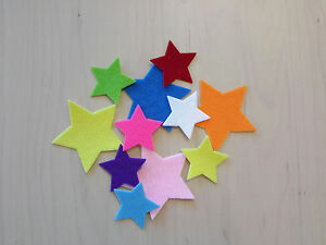 IRON ON Felt Stars - 4 sizes - over 20 colours to choose from