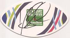 Australia Rugby: Kurtley Beale firmado Copa del Mundo 2015 Estera De Cerveza + certificado De Autenticidad * Canguros *
