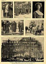 Der Brand des Theatre francais in Paris * Rettungsarbeiten *  Bilddokumente 1900