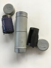 LEITZ LEICA METAL DOUBLE CASSETTE HOLDER - with 2 film Canisters - RARE
