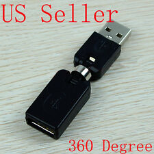 Standard USB 360° Swivel Adapter Twist Angle Connector Right Flexible Converter