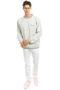 CHAMPION Sweatshirt Size XL Two Tone Glued Logo Long Sleeve Crew Neck