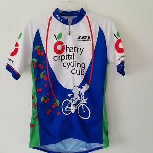 Louis Garneau Unisex Men's M Women's XL Cycling Jersey Rear Pockets Cherries