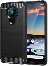For Nokia 5.3 Carbon Fibre Gel Case Cover Shockproof & Stylus