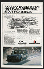 1979 INTERNATIONAL SCOUT 4 Wheel Drive SUV Car - Truck - Harvester IH VINTAGE AD