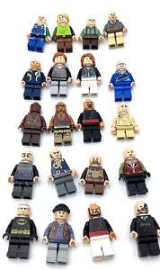 LEGO LOT OF 20 FLESH TONE MINIFIGURES TOWN CITY PEOPLE GUYS SUPERHEROES PIRATES
