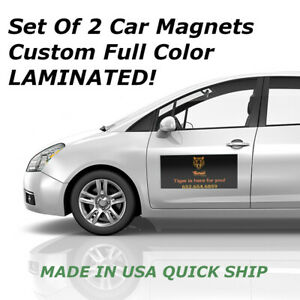 Custom Car Magnets  Magnetic Auto Truck Signs 2-12x24