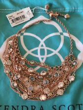 Kendra Scott Multi Chain Stassi Statement Skirt Bracelet in Gold & CZ