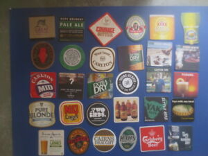 36 different AUSTRALIAN Brewery Issue BEER /& CIDER COASTERS collectable L