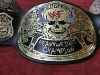 WWF Smoking Skull World Heavyweight Wrestling Champion Belt SNAKE SKIN