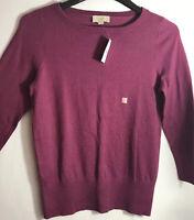 LOFT Women's Pullover Knit Sweater Mauve Size S Crew Neck