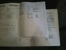 Roland VG-8 VG8 Service Manual & Troubleshooting Schematics Includes 23 Pages