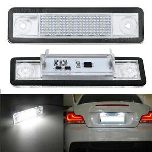 For Mercedes Benz E W201 W124 C Class W202 Xenon White LED License Tag Light 2pc