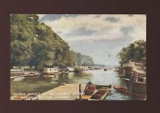 Oxfordshire Oxon GWR Railway Official OXFORD Barges Thames c1910s? PPC