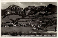 Bad Oberdorf Allgäu alte Postkarte 1959 Totale mit Hirschberg Spieser und Ornach