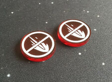 X-Wing Miniatures compatible, acrylic weapons disabled tokens x 2