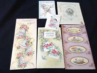 #94 Pretty Lot Of 6 Vintage Wedding Bridal Greeting Cards 40-50s